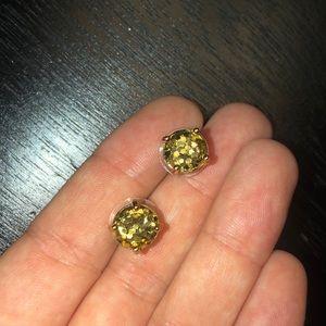 Gold Kate Spade studs